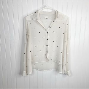 Urban Outfitters Cooperative Button Front Top